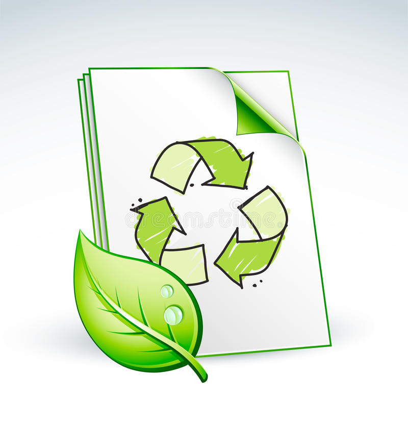 Recycling paper royalty free illustration