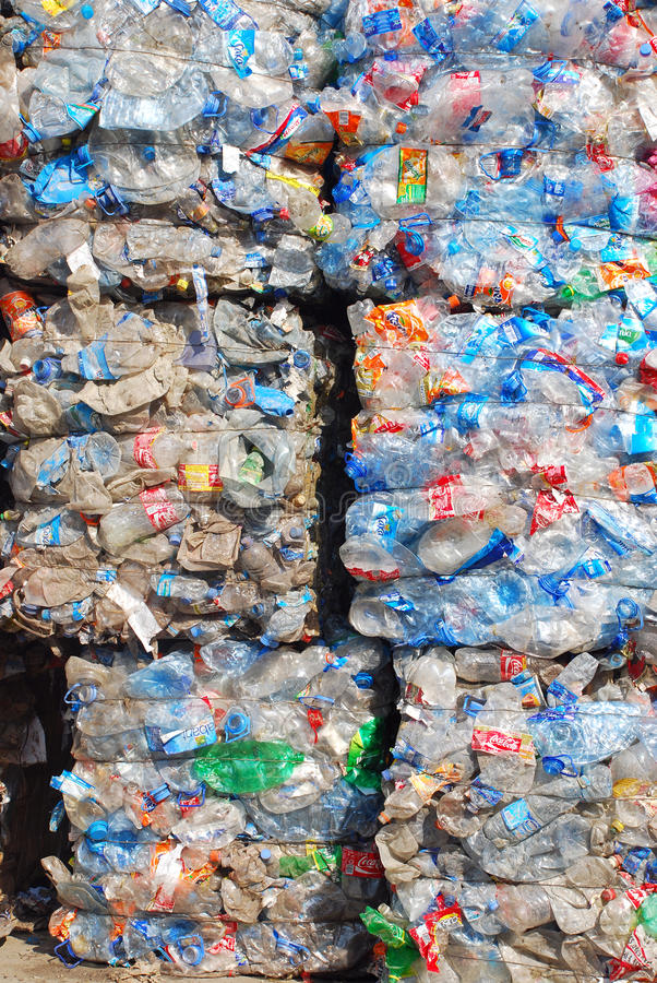 Download Recycling Plastic And Bottles Editorial Image - Image: 14645730