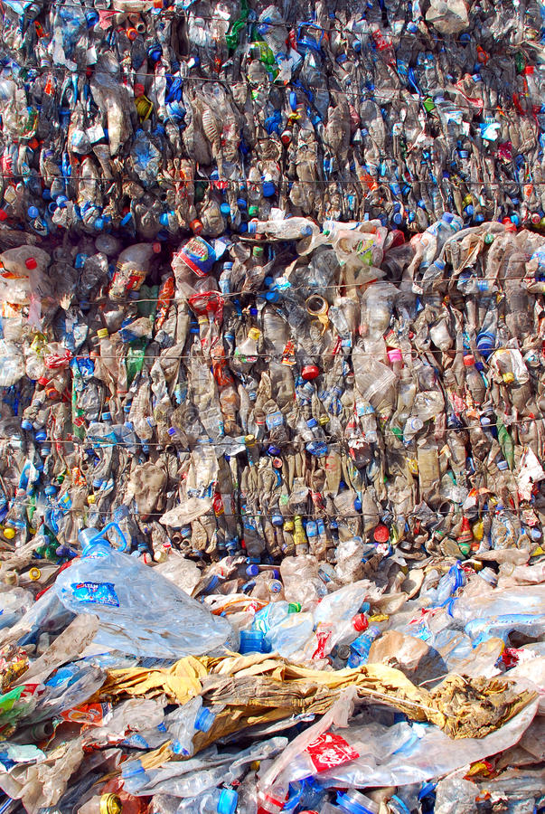 Recycling Plastic And Bottles Editorial Photo