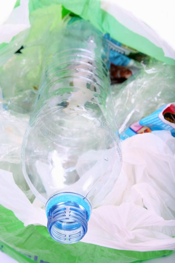 Recycling plastic rubbish royalty free stock photos