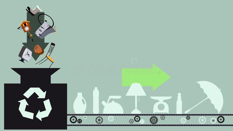 Recycling-Prozess lizenzfreie abbildung
