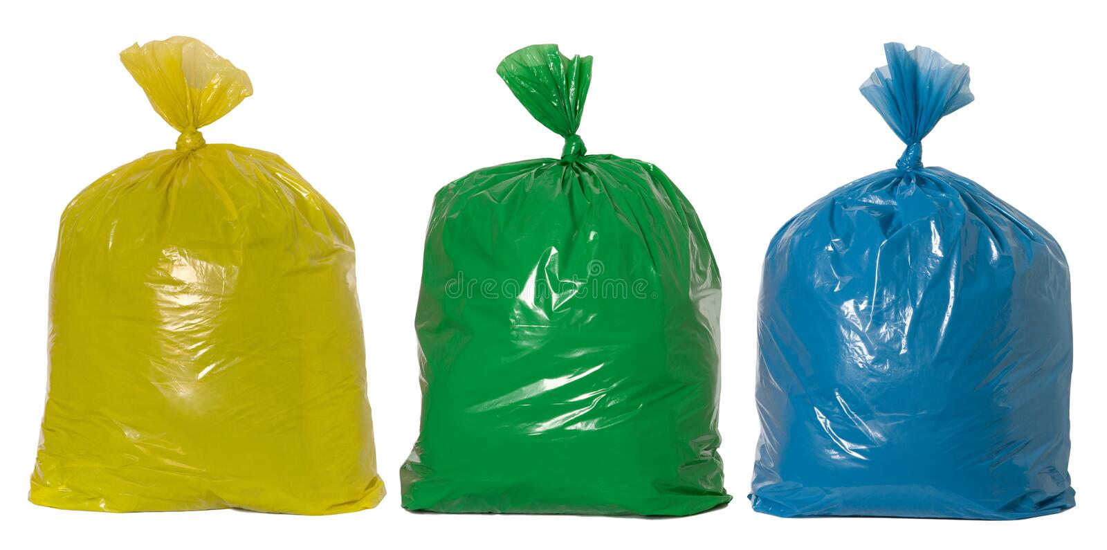 Recycling rubbish stock image