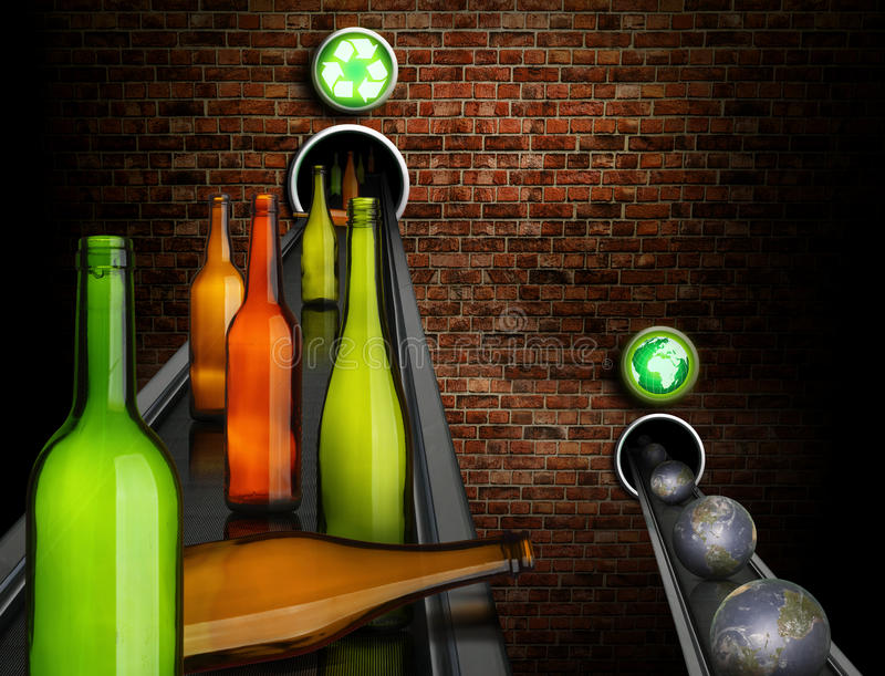 Recycling saves planets stock photography