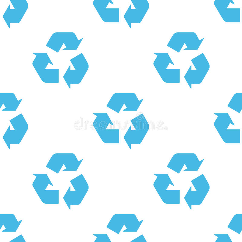 Recycling seamless pattern royalty free illustration