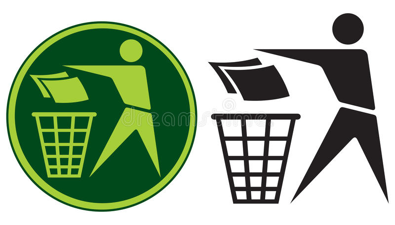 Recycling Sign. Label,  Button Icon royalty free illustration
