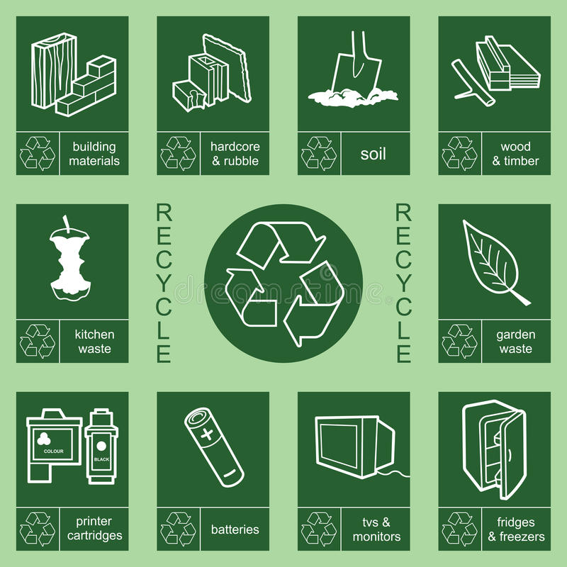 Recycling sign collection 4