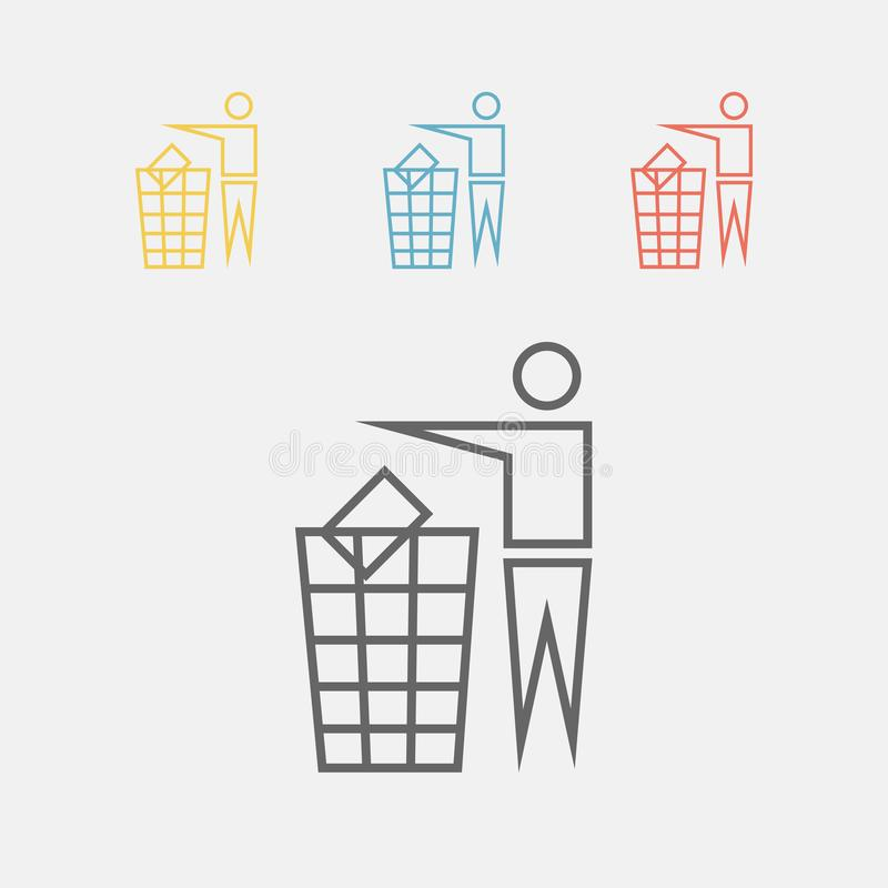 Recycling sign icon. Vector icon for web graphic stock illustration