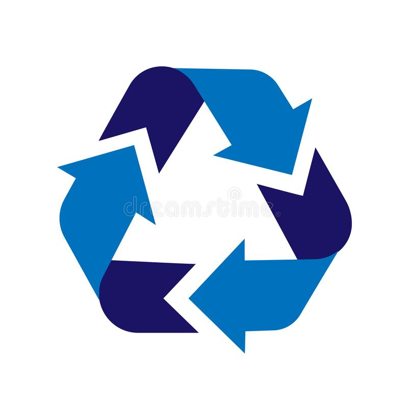 Recycling sign. Recycle sign icon. Arrow icon vector. Recycling sign. Recycle symbol graphic design. Illustration of recycling. Vector abstract illustration of royalty free illustration