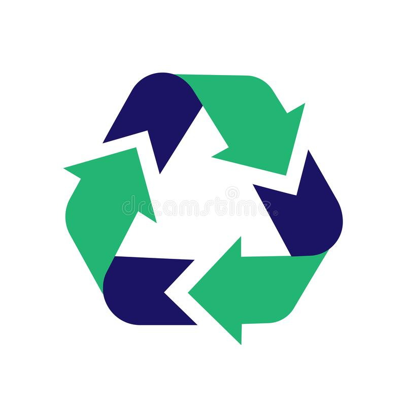 Recycling sign stock illustration
