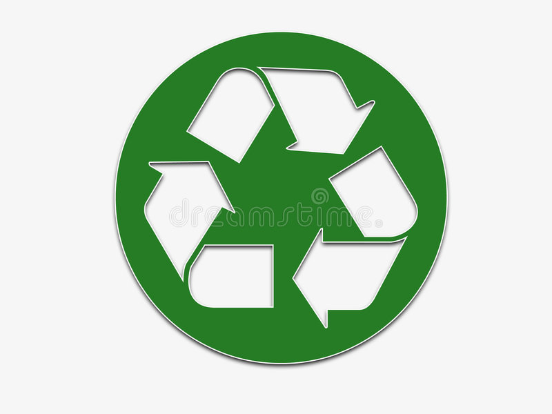 Recycling sticker stock image