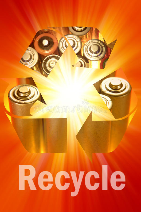 Download Recycling symbol stock photo. Image of conservation, metal - 11686488