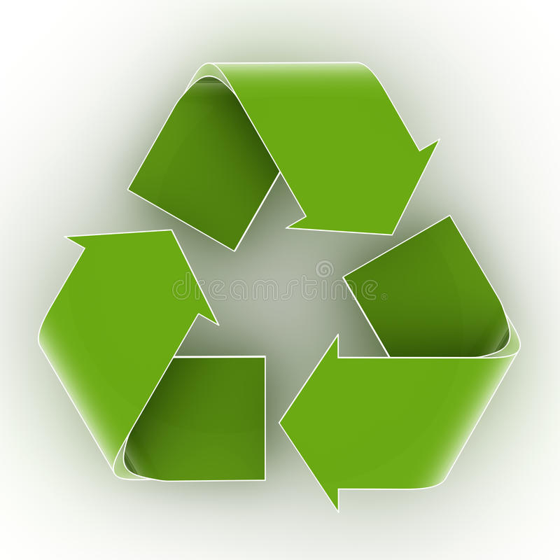 Download Recycling Symbol stock illustration. Image of environment - 14504515
