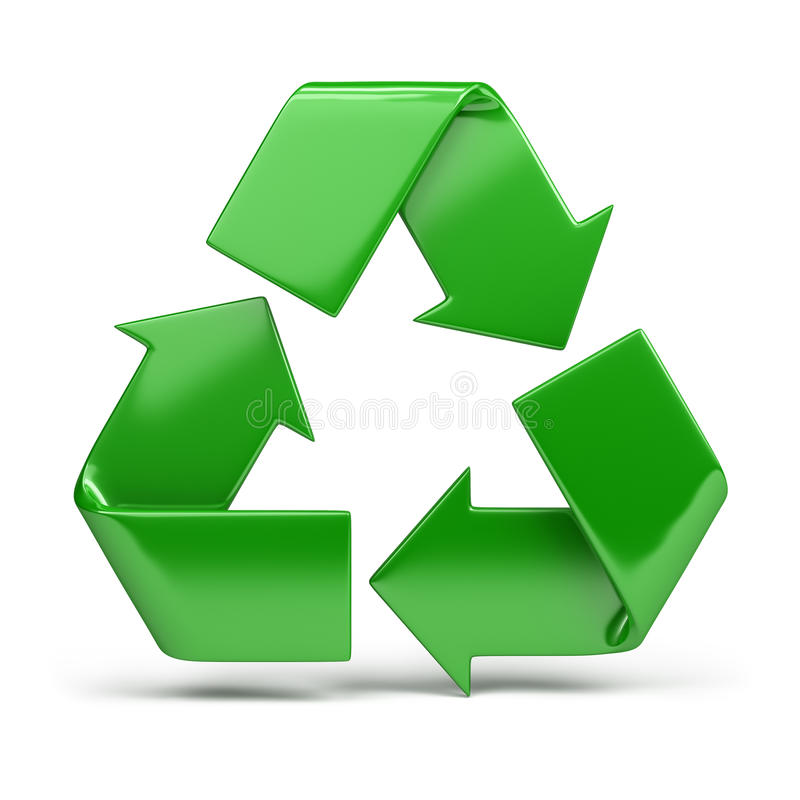 Recycling symbol royalty free illustration