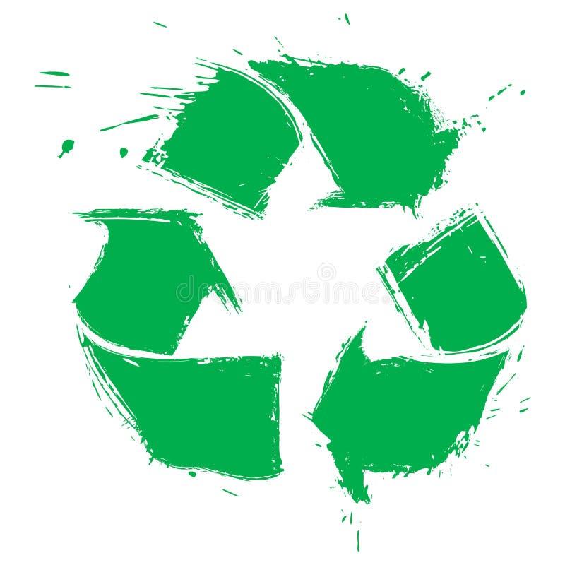 Recycling symbol royalty free illustration