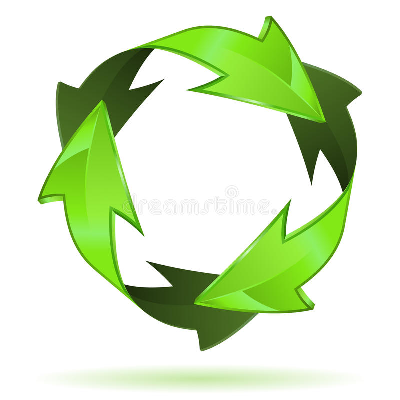 Download Recycling Symbol stock vector. Illustration of sign, illustration - 27756368