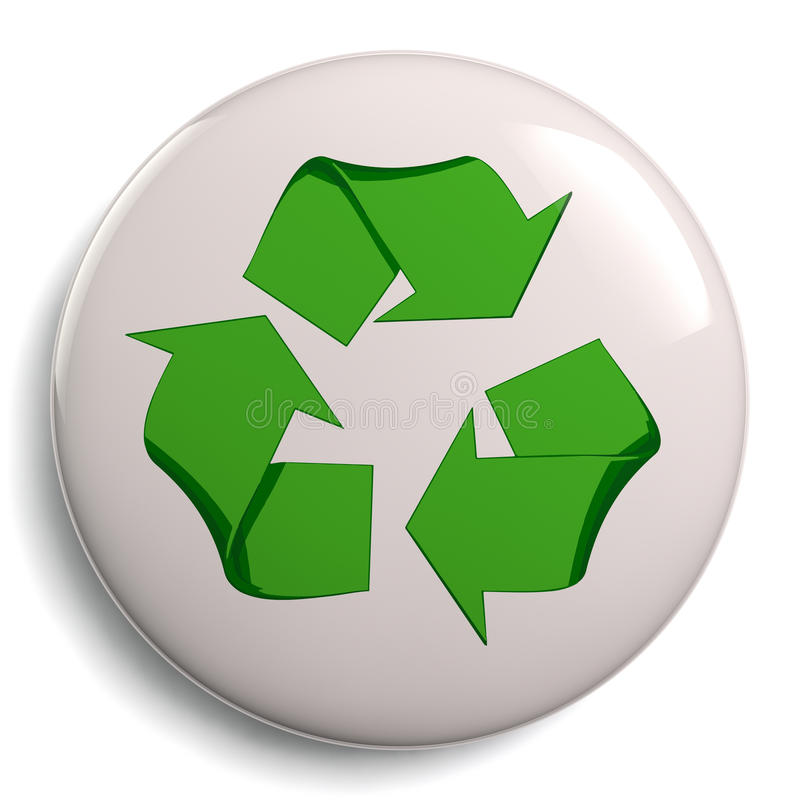 Recycling Symbol Bage Isolated On White Stock Illustration
