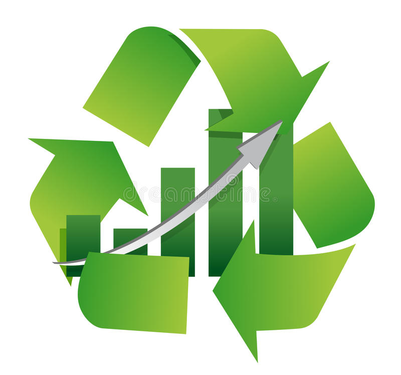 Download Recycling Symbol With A Bar Chart In Center Stock Illustration - Image: 24830877