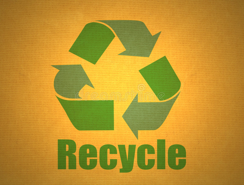 Download Recycling Symbol On Cardboard Stock Images - Image: 3133514