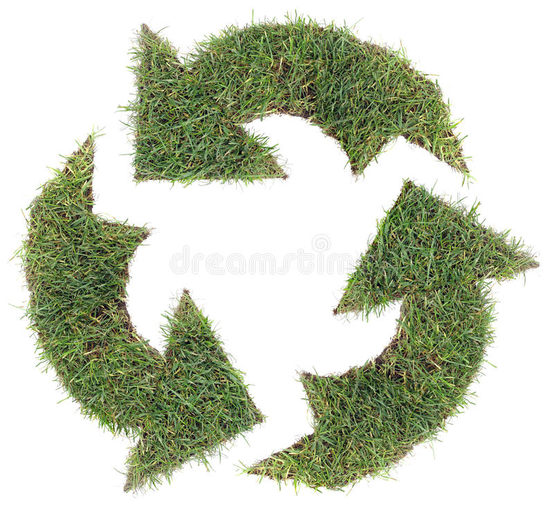 Download Recycling Symbol Cut Out stock illustration. Image of cyclic - 25725316
