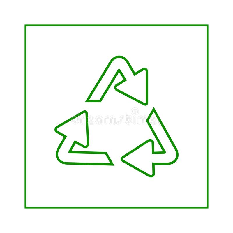 Recycling symbol of ecologically pure funds, set of arrows vector illustration