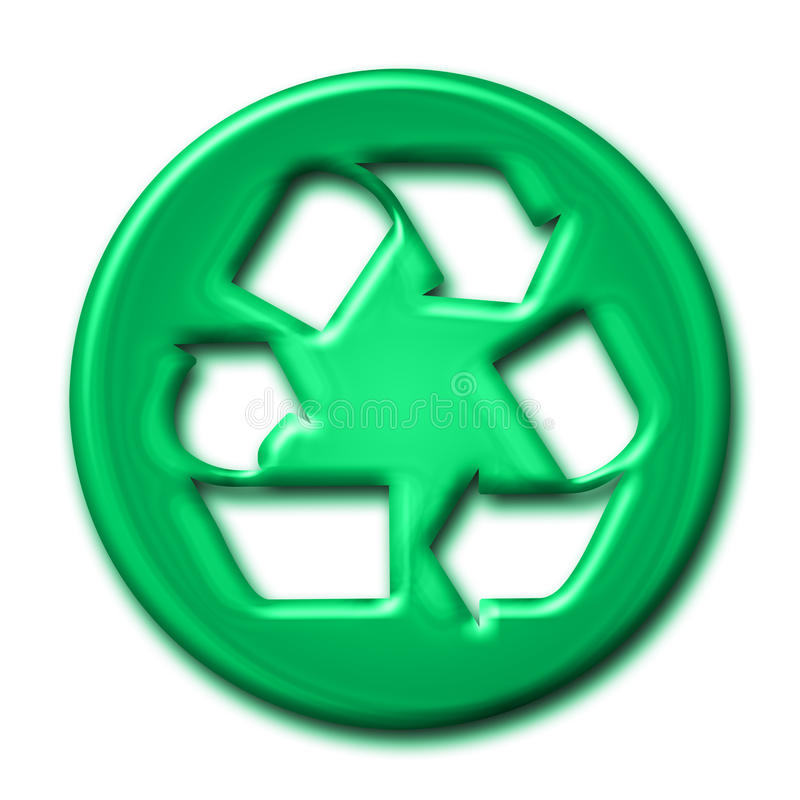 Download Recycling Symbol In Green Tones Stock Illustration - Illustration of natural, nature: 19028289