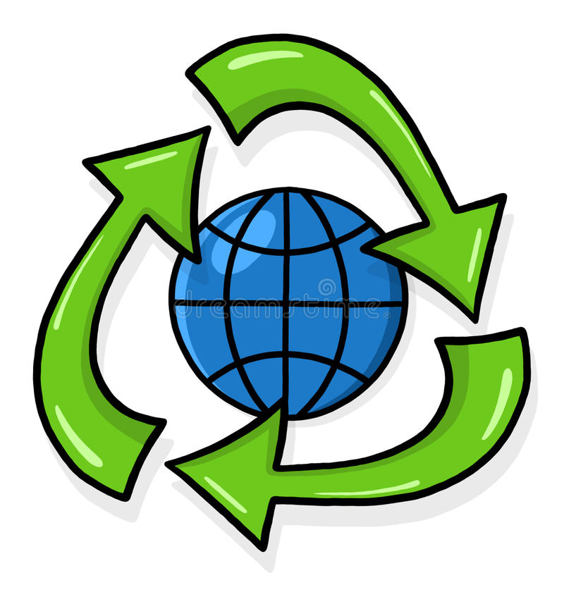 Download Recycling symbol cartoon stock illustration. Image of clean - 17911699