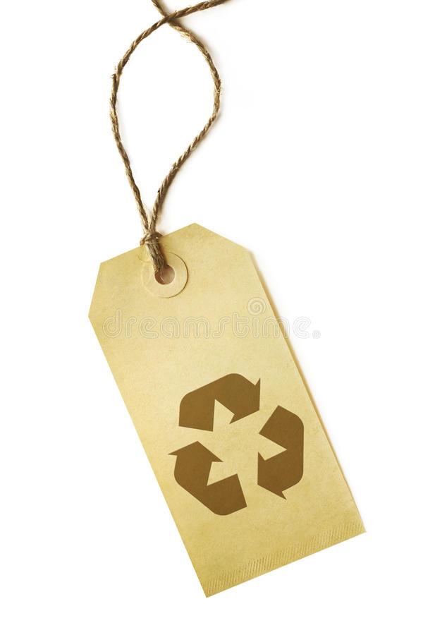 Download Recycling Symbol on Label stock image. Image of vertical - 11339889