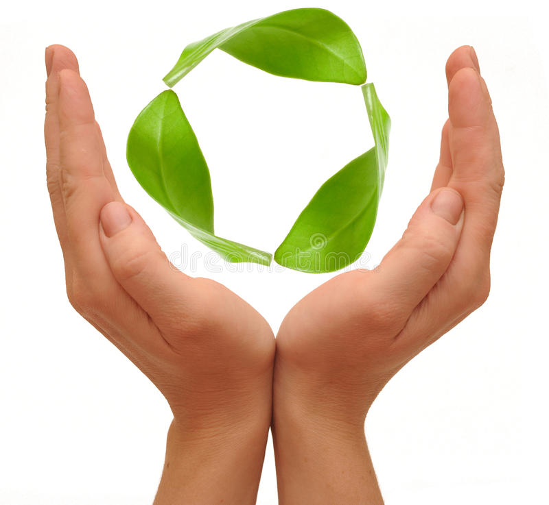 Download Recycling Symbol Made From Hands Royalty Free Stock Photography - Image: 25993797