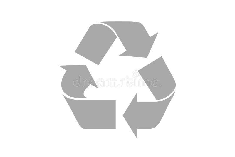 Recycling-Symbol mit Beschneidungspfad lizenzfreie stockfotos