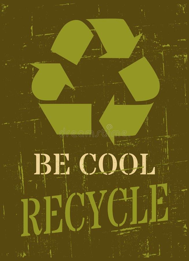 Recycling-Symbol-Plakat stock abbildung