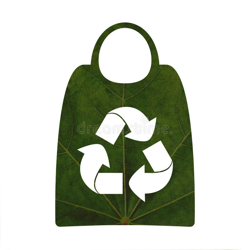 Recycling symbol and shopping bags royalty free stock images