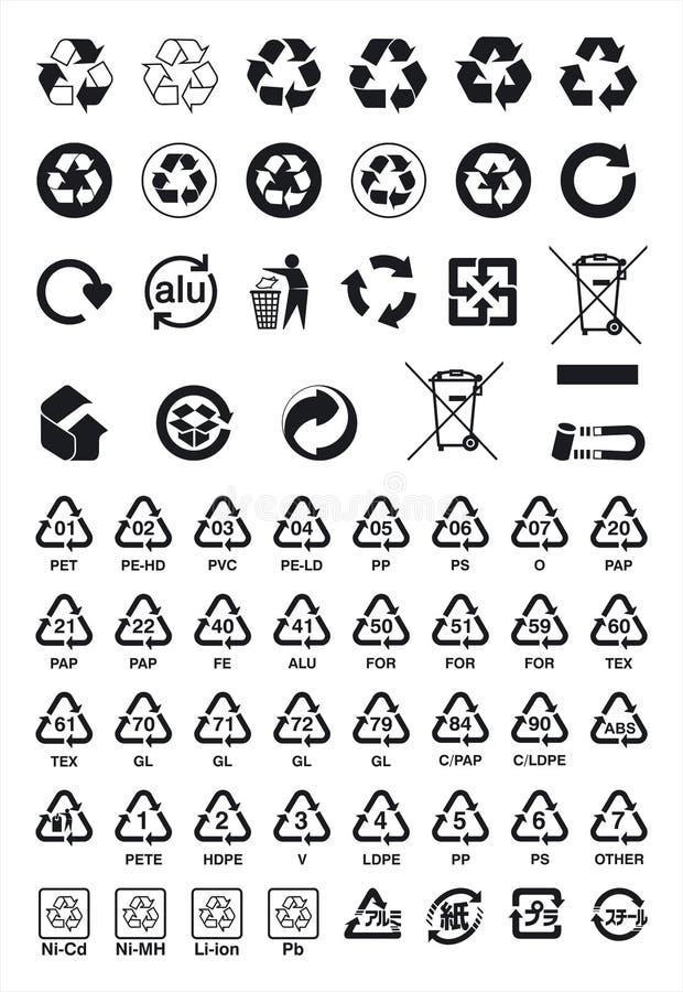 Recycling-Symbole lizenzfreie abbildung