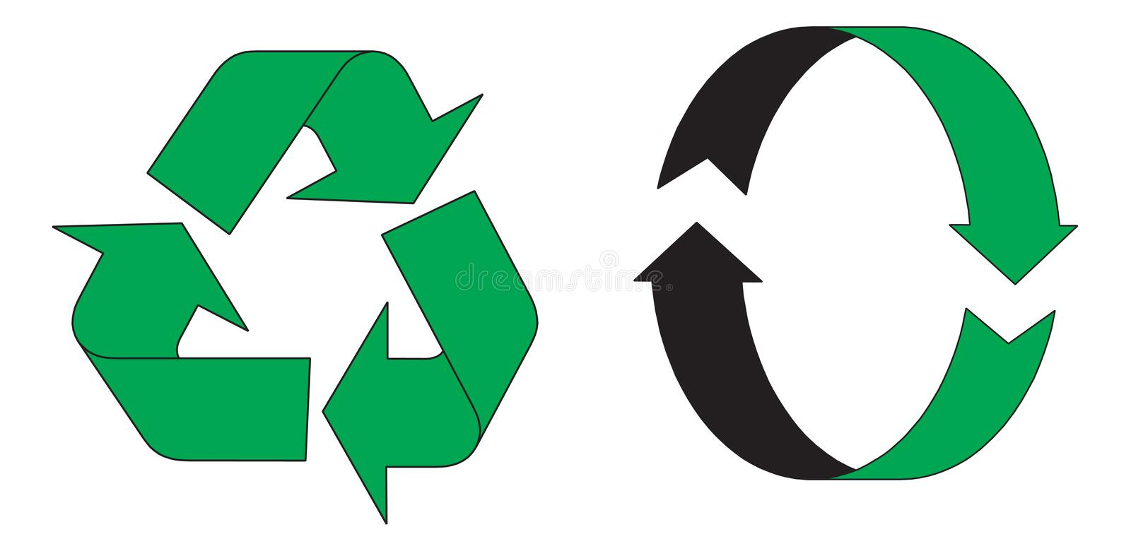 Download Recycling symbols stock vector. Image of care, protection - 3222732