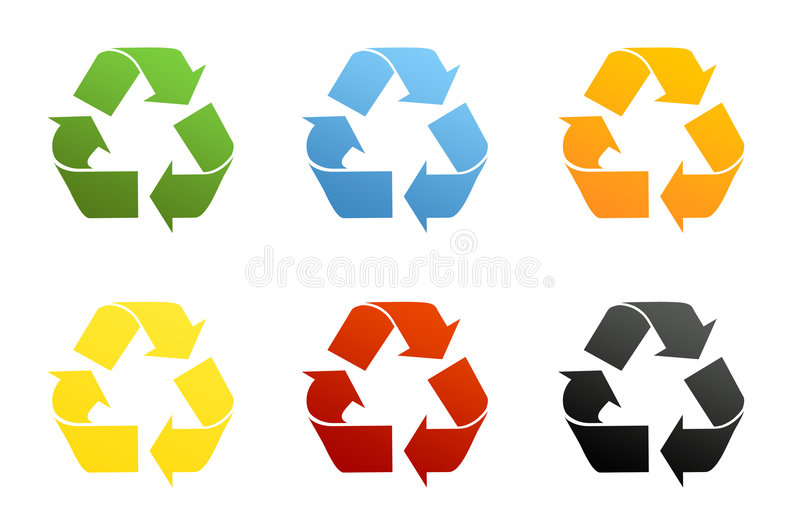 Recycling Symbols Stock Illustration Illustration Of Orange 5439772