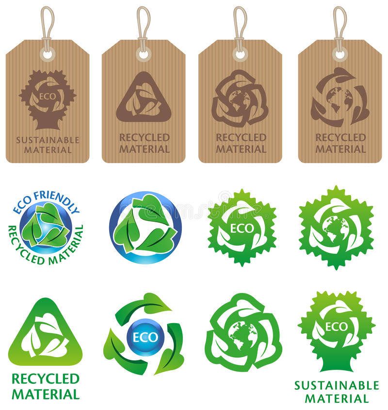 Download Recycling Symbols And Labels Stock Vector - Illustration of environment, natural: 24013183