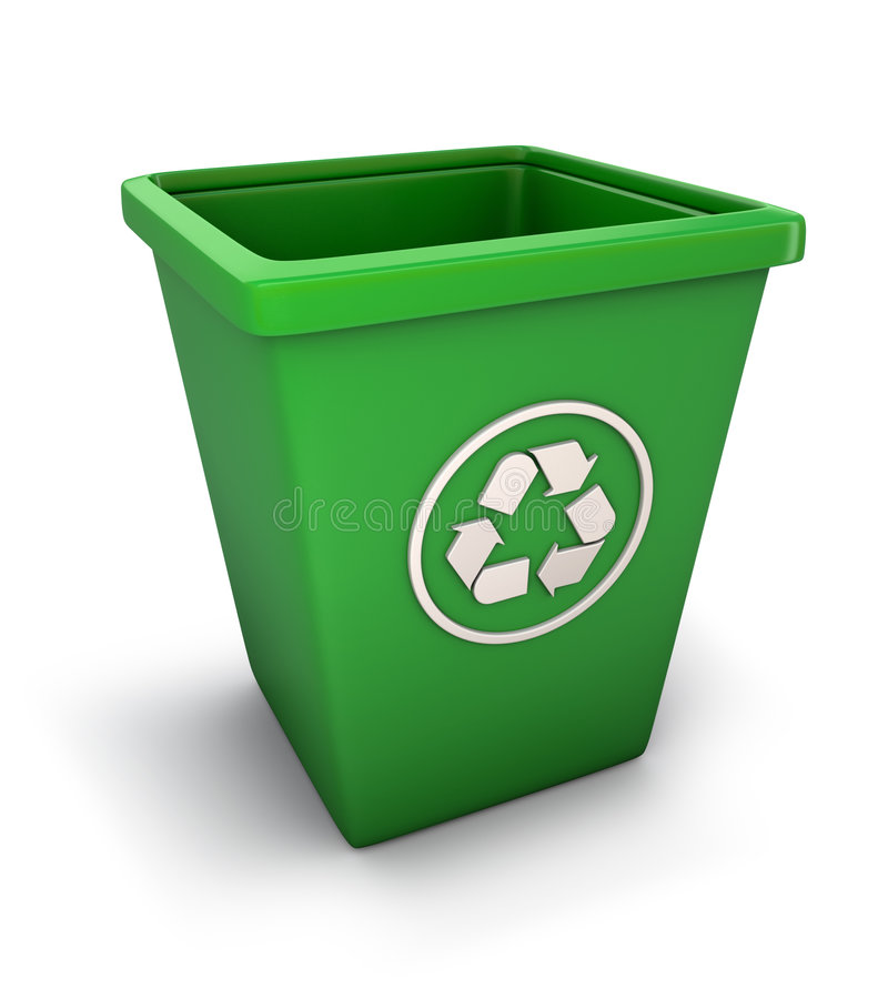 Download Recycling trash can stock illustration. Image of background - 6438946