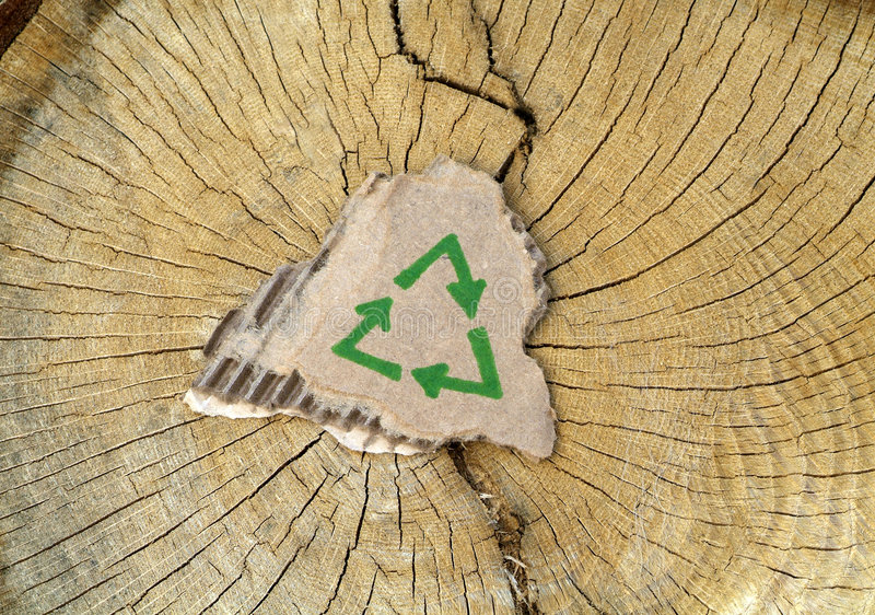 Download Recycling: Tree Conservation Stock Image - Image: 8446393