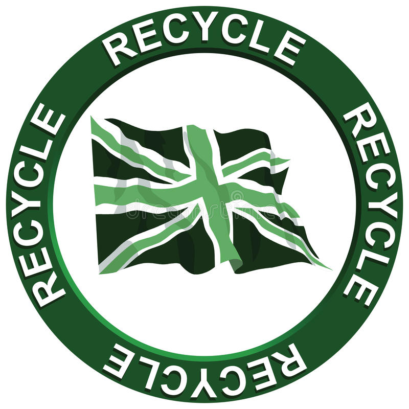 Download Recycling United Kingdom stock vector. Image of ecological - 12980028