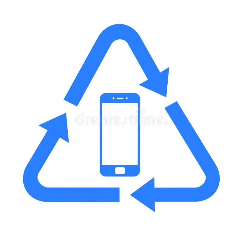 Recycling van elektronisch afval stock illustratie