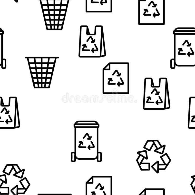 Recycling Vector Seamless Pattern stock illustration