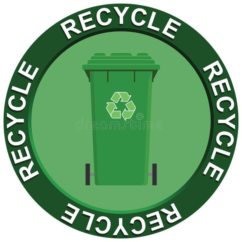 Recycling Wheelie Bin Royalty Free Stock Photo