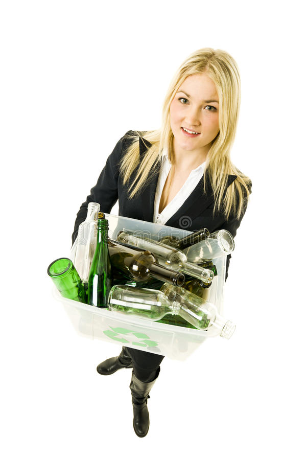 Download Recycling Woman Royalty Free Stock Image - Image: 22650506