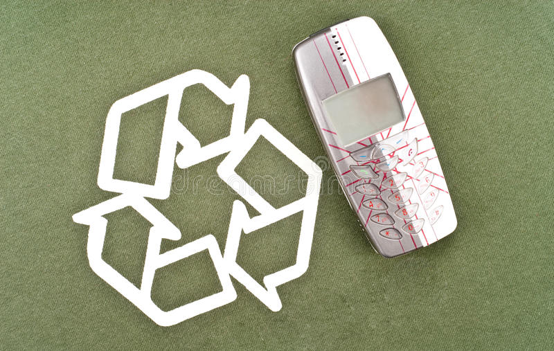 Recycling Your Old Phone. Recycling Your Old Mobile Phone stock photo