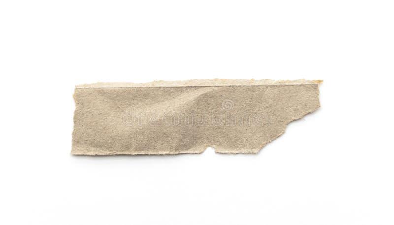 Recyclingpapierhandwerksstock auf einem weißen Hintergrund Brown-Papier zerrissen oder zerrissene Blätter Papier lokalisiert auf  lizenzfreie stockfotografie