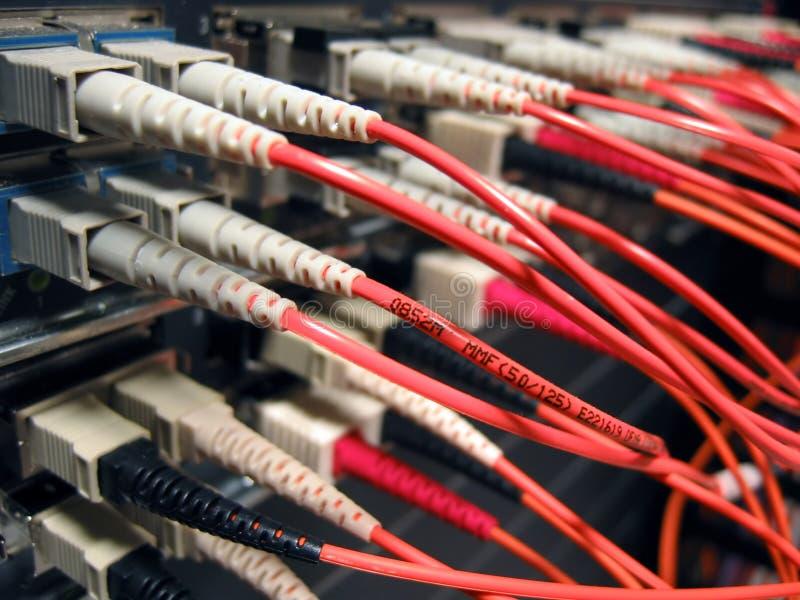 Red óptica de la fibra fotografía de archivo
