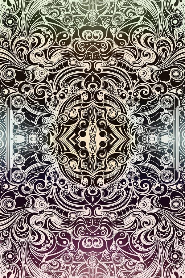 Red única que brilla intensamente brillante multicolora artística del extracto de modelos y de formas libre illustration