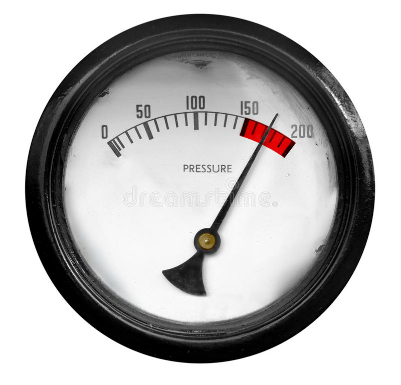 Pressure Meter Overload royalty free stock image