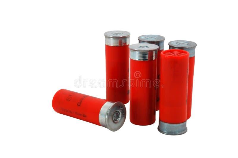 Red 12 Gage Shotgun shells royalty free stock photography