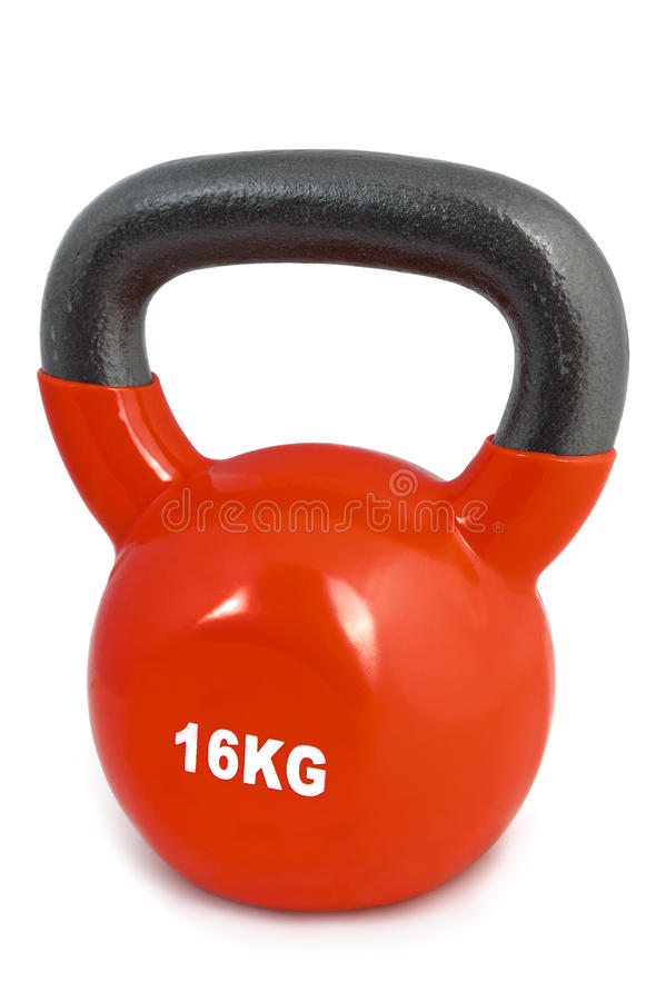 Red 16 kg lifting weight stock photos