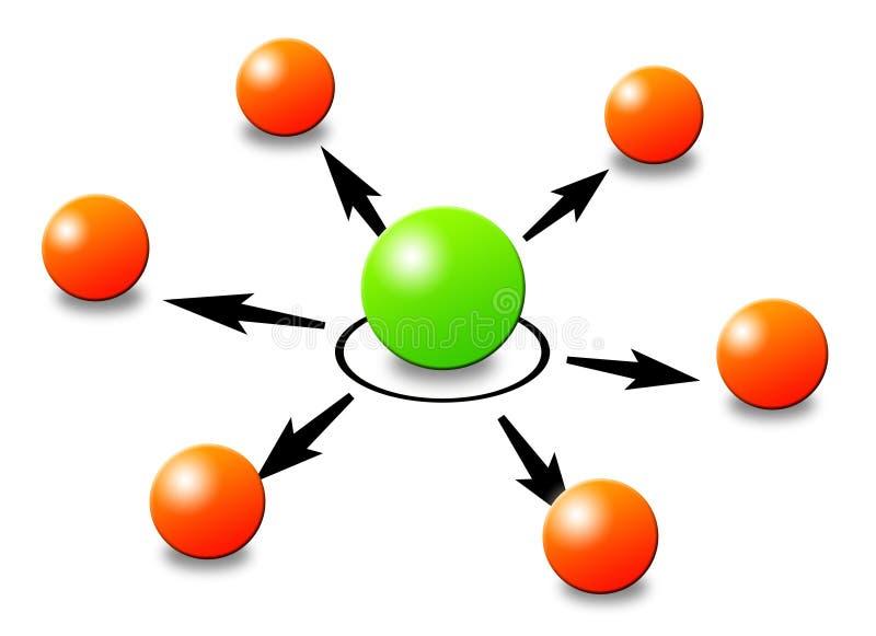 Red ilustración del vector